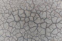 Gebrochener Lehm rieb in die Trockenzeit Lizenzfreie Stockfotos