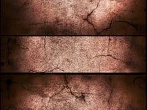 Gebrochener Zementwandhintergrund Stockbilder