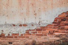 Gebrochenes Backsteinmauermuster Stockfotografie