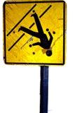 Gebrochenes Crosswalkzeichen Stockfotos