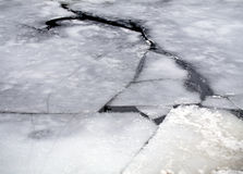 Gebrochenes Eis Stockfoto