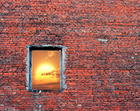 Gebrochenes Fenster Lizenzfreies Stockfoto