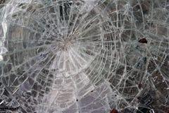 Gebrochenes Glas Stockfoto