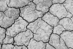 Gebrochenes trockenes Muster des Beschaffenheitsbodens für Hintergrund Lizenzfreies Stockbild