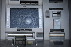 Gebroken ATM. royalty-vrije stock foto's