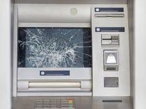 Gebroken ATM Close-up royalty-vrije stock afbeeldingen