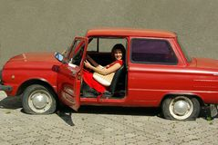 Gebroken auto. Royalty-vrije Stock Foto