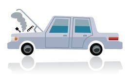 Gebroken auto, autotekort Stock Afbeeldingen
