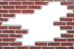 Gebroken Bakstenen muur Stock Afbeelding