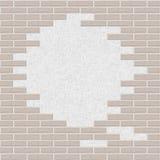 Gebroken bakstenen muurachtergrond Stock Foto's