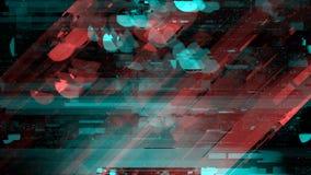 Gebroken beschadigd televisie-uitzendingsignaal royalty-vrije illustratie