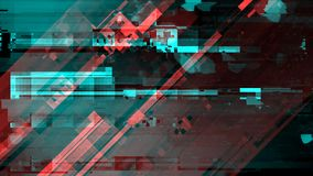 Gebroken beschadigd televisie-uitzendingsignaal stock illustratie