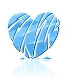 Gebroken blauw ijzig hart Stock Afbeelding