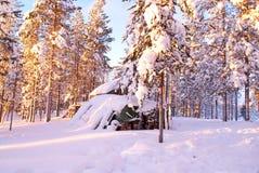Gebroken cabine Royalty-vrije Stock Foto's