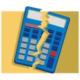Gebroken calculator Royalty-vrije Stock Fotografie