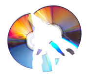 Gebroken CD 1 Royalty-vrije Stock Foto's