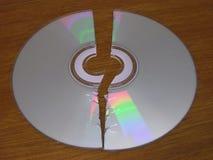 Gebroken CD royalty-vrije stock fotografie
