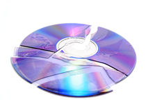 Gebroken CD royalty-vrije stock foto