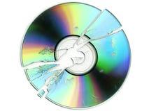 Gebroken CD/DVD stock foto's