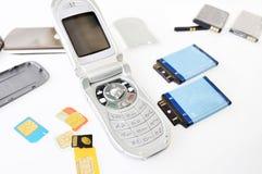 Gebroken cellphone Royalty-vrije Stock Fotografie