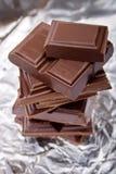 Gebroken chocolade Royalty-vrije Stock Fotografie