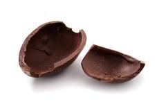 Gebroken chocoladePaasei royalty-vrije stock foto's