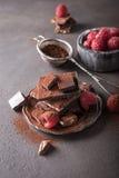 Gebroken chocoladestukken Royalty-vrije Stock Foto