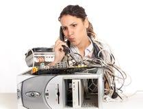 Gebroken computer Stock Foto