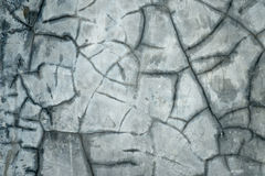 Gebroken concrete muur Royalty-vrije Stock Afbeelding