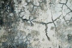 Gebroken concrete walll Stock Afbeelding