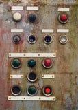Gebroken controlebord, grunge Stock Afbeelding