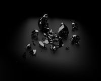 Gebroken diamant stock illustratie