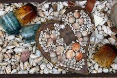 Gebroken die hart van shells wordt gemaakt Royalty-vrije Stock Foto's