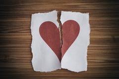 Gebroken document hart Royalty-vrije Stock Afbeelding