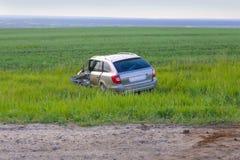 Gebroken door auto na ongeval Royalty-vrije Stock Fotografie