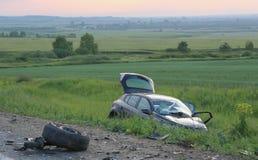 Gebroken door auto na ongeval Stock Fotografie