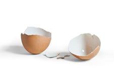 Gebroken eierschaal Royalty-vrije Stock Foto's