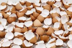 Gebroken eierschalen royalty-vrije stock foto