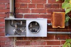 Gebroken elektrische meter Royalty-vrije Stock Foto's