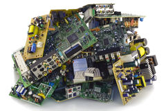Gebroken elektronika op een huisvuilstortplaats royalty-vrije stock afbeelding