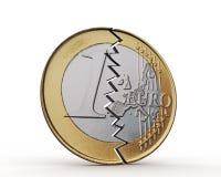 Gebroken euro Stock Foto's
