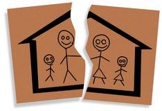 Gebroken familie stock illustratie