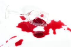 Gebroken geïsoleerd wijnglas Royalty-vrije Stock Fotografie