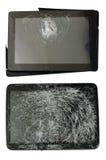 Gebroken geïsoleerde gadgets Stock Afbeeldingen