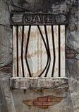 Gebroken gevangenisvenster Royalty-vrije Stock Foto
