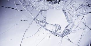 Gebroken glas Stock Afbeeldingen