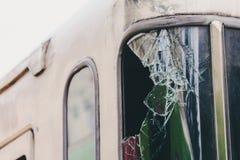 Gebroken glas van de trein royalty-vrije stock afbeelding