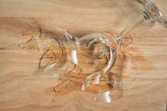 Gebroken glas water Royalty-vrije Stock Foto