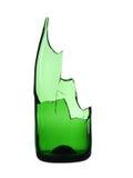 Gebroken groene fles Royalty-vrije Stock Afbeeldingen