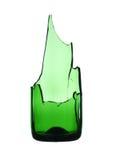 Gebroken groene fles Stock Foto's